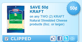 Kraft Shredded Cheese Coupon