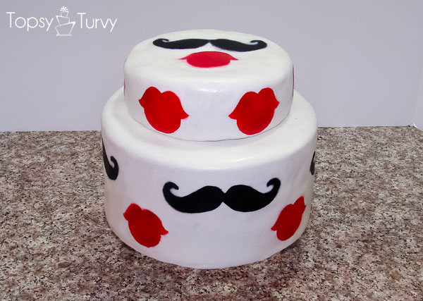 Mustache And Lips Baby Shower Cake Ashlee Marie Real Fun With