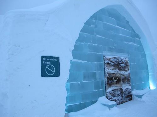 Front door, Ice Hotel, Jukkasjärvi