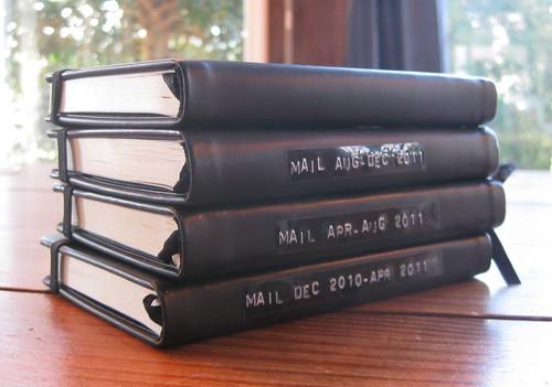 Letter journals for 2011
