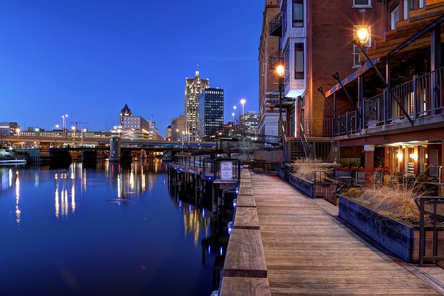 Riverwalk near the Ale House Twilight