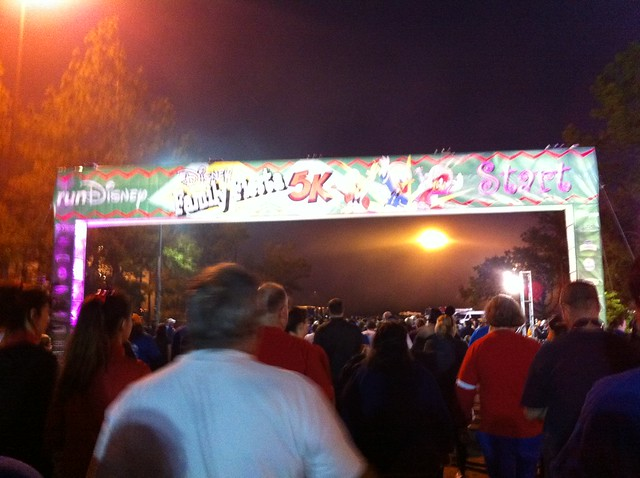 2012 Disney Family Fiesta 5k #runDisney starting line.