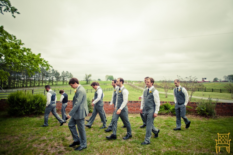 gray and yellow outdoor vintage wedding_033