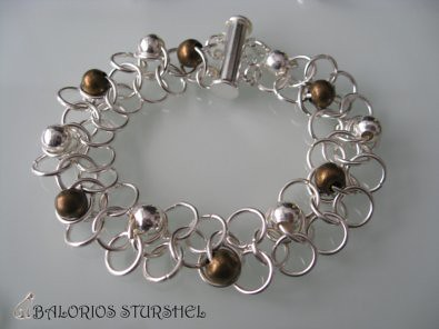 Pulsera Chainmaille EU 4 in 1 adornada blog