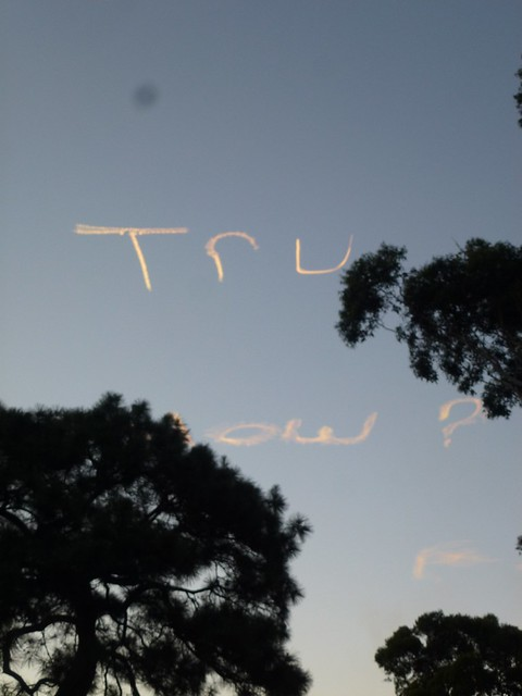 A message written by an airplane