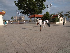 Football exercise at Sisowat Quay (Phnom Penh, Cambodia 2011)