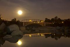 Light-Painting Rainbow Bridge & Rocks, Folsom CA (IMG_1933-LR)