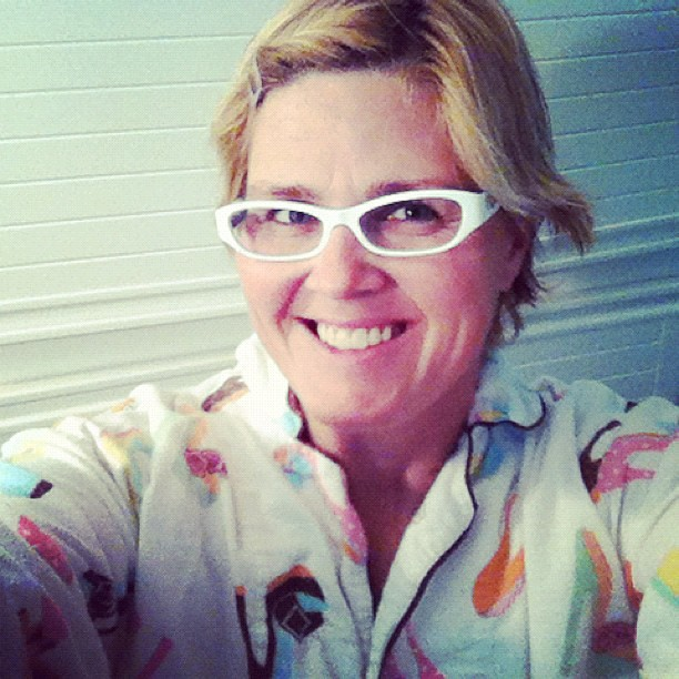 End of day. Flannel jammies on. Different glasses. Bad hair. 10 of 10. #10on10