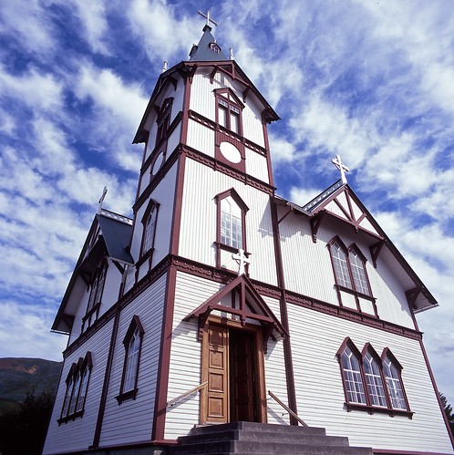 "Image titled ""Church, Húsavík, Iceland."""
