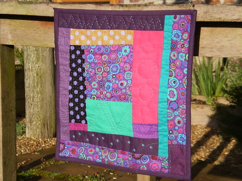 Purple miniquilt