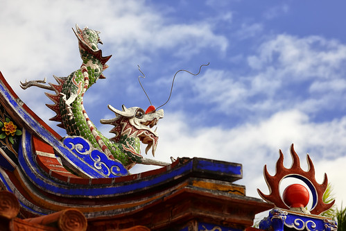 dragon with blue sky
