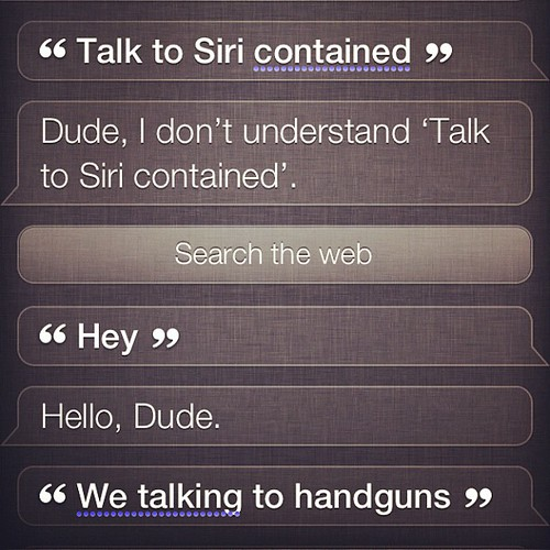 while I was in the other room the jude was busy talking to Siri.
