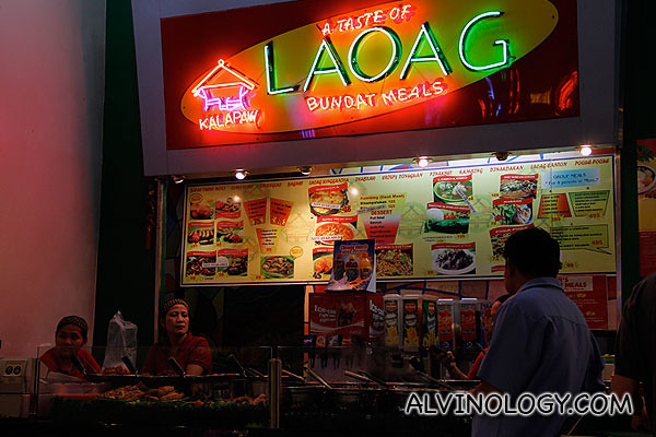 A pinoy food stall
