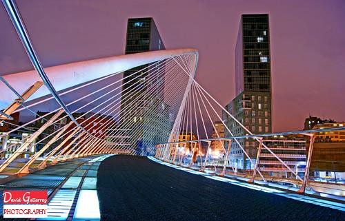 Bilbao Architecture at Night by david gutierrez [ www.davidgutierrez.co.uk ]