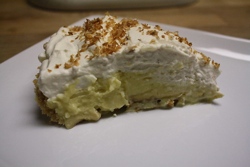 Finalist 13: Banana Caramel Coconut Cream Pie with Dark Rum