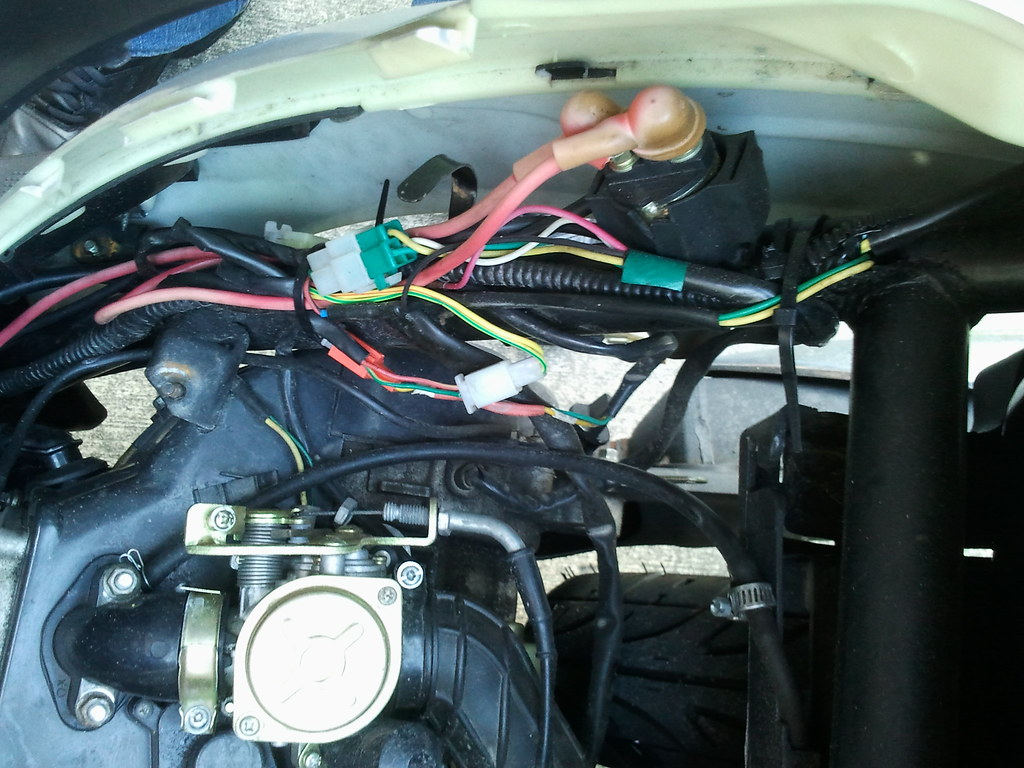 problem fuse keeps blowing near battery that is the can of worms that i am looking at right now lots of electrical tape and frayed exposed wires