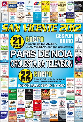 Boiro 2012 - Festas de San Vicente en Cespón - cartel