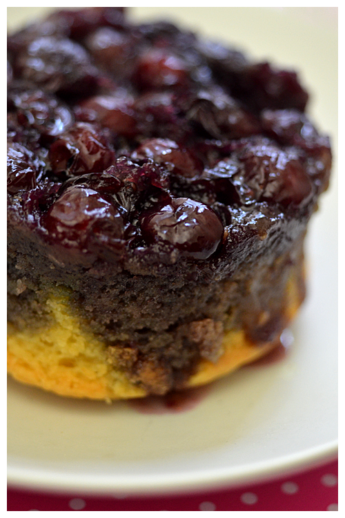 Blueberry Upside-Down Cakes© by Haalo