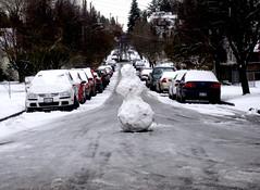 Snowman In Street