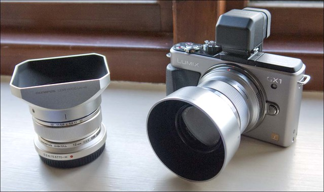 Panasonic GX1 Olympus 12mm f/2 45mm f/1.8 lenses