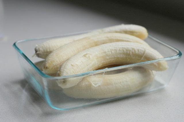 Banannas ready for freezing