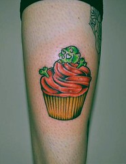 Poisoned Cupcake Tattoo