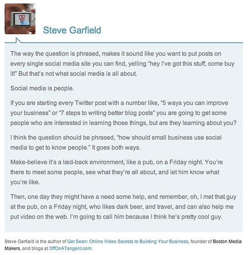 Social Media for Lead Generation: Experts Weigh In by stevegarfield