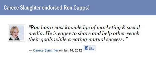 Carece Slaughter Endorses Dr. Ron Capps the Nicheprof