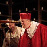 Jay O. Sanders as Galileo and Edward Herrmann as Cardinal Barberini, before he becomes Pope Urban VIII in the Huntington Theatre Company's American Premiere production of Two Men of Florence at the BU Theatre, part of the 2008-2009 season. Photo: T. Charles Erickson