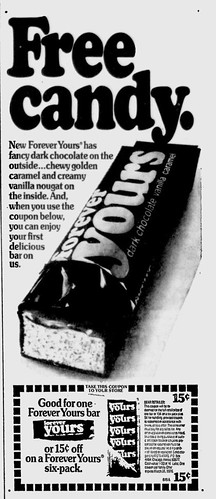 Forever Yours candy bar Ad - 1976