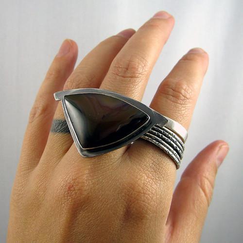 ooak sterling silver ring