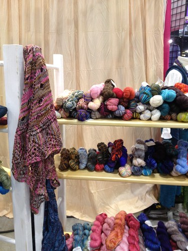 Wave or Particle Shawl in Claudia's booth