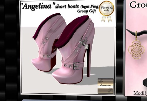 Crystal Line Angelina short boots lightpink (Group gift) by Cherokeeh Asteria