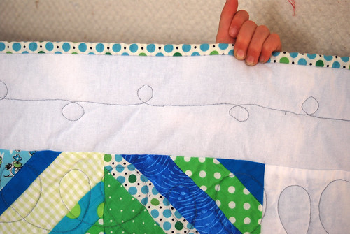String Quilt with Loopy Quilting