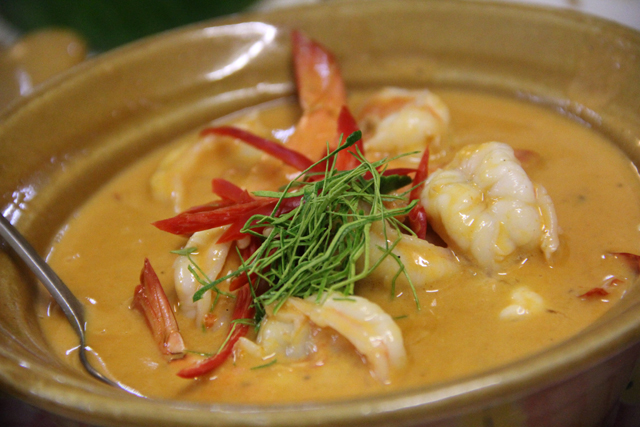 Panang goong (panang curry shrimp แพนงกุ้ง)