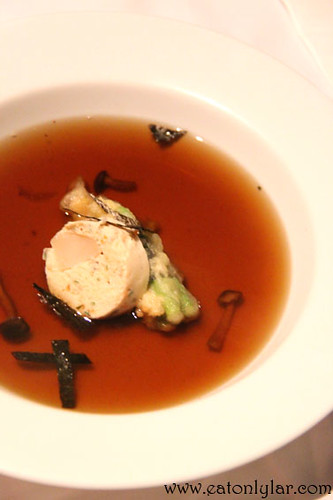 Double boiled free range chicken and mushroom consommé, The Speakeasy Restaurant & Bar
