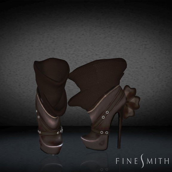 FINESMITH CANDYBIRD BOOTS BROWN