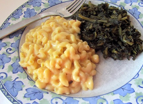 Fast Mac 'n' Cheese & Greens