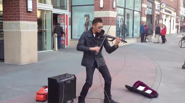El violinista JAPO