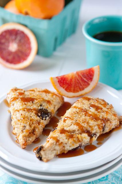 Cherry-Orange Cream Scones