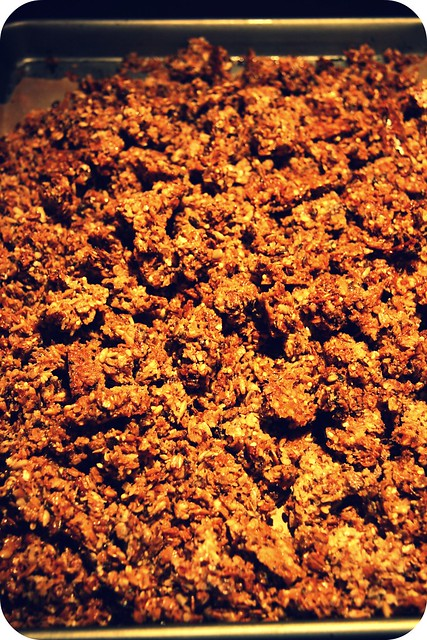 pan of big crunch granola