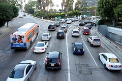 LA traffic jam =  daily occurence !