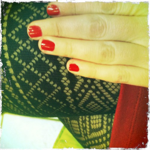 ...red nails...
