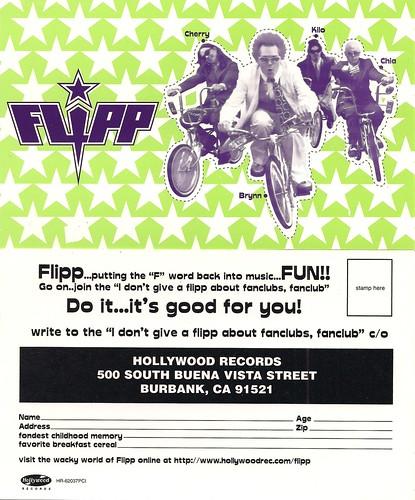 Flipp Fanclub Postcard