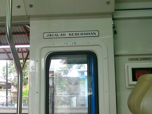 Papan Petunjuk No Tempat Duduk Madiun Jaya AC