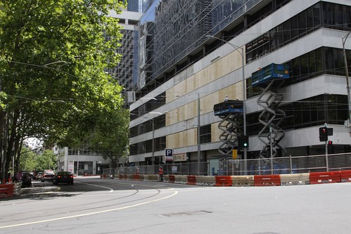 Work along Flinders Lane at 447 Collins Street - I'm not sure what they are trying to achieve