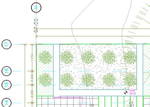 Las lineas de suelos quedan sobre las líneas de los muros 6835964961_70efc53210