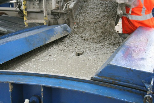 Adding concrete mix