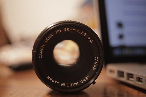 Canon FD 1.8 lens