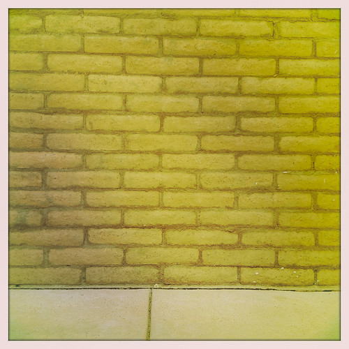 Brick Wall and Pavement